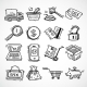Shopping E-Commerce Sketch Icons Set - GraphicRiver Item for Sale