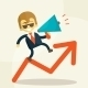 Businessman Public Speaking on a Megaphone - GraphicRiver Item for Sale