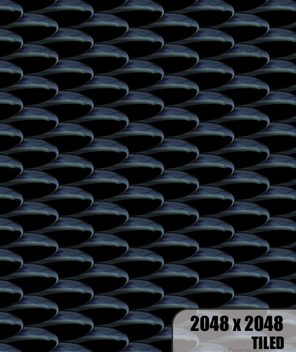 Black Scales (toon twist) Tiled  - 3DOcean Item for Sale