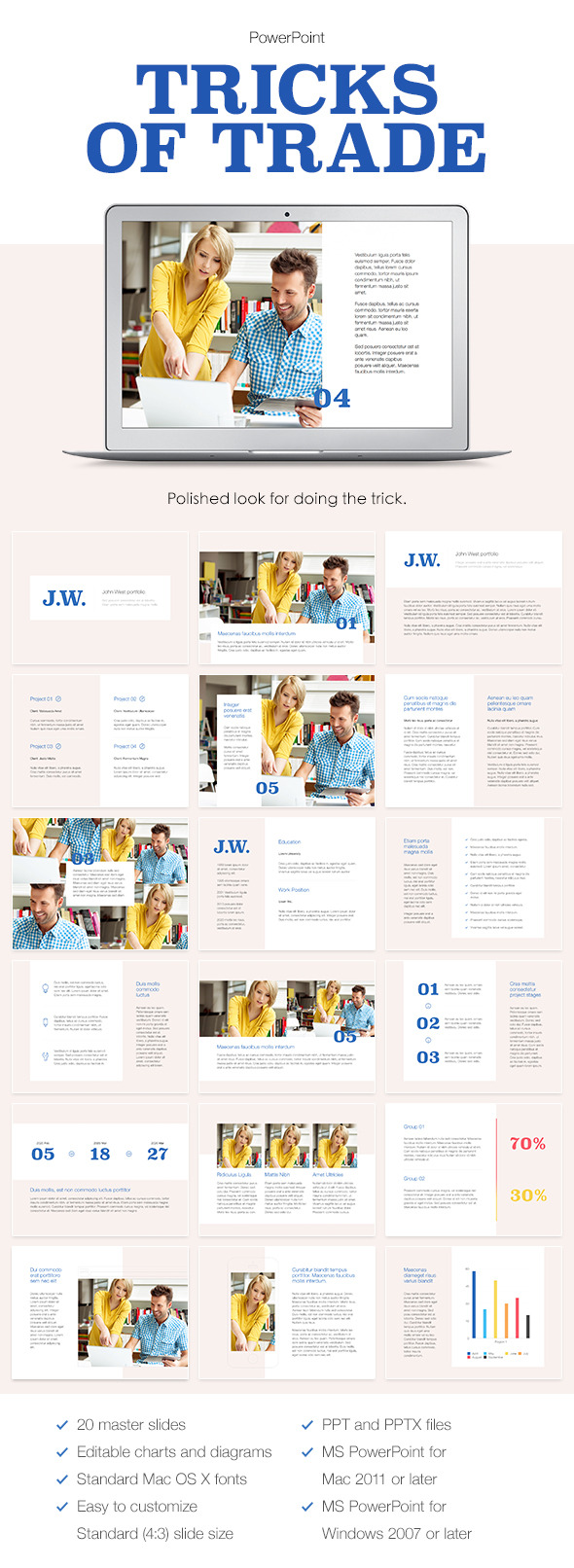 GraphicRiver Tricks of Trade PowerPoint Template 9345678