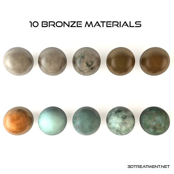 3DOcean 10 Bronze Materials 9345780