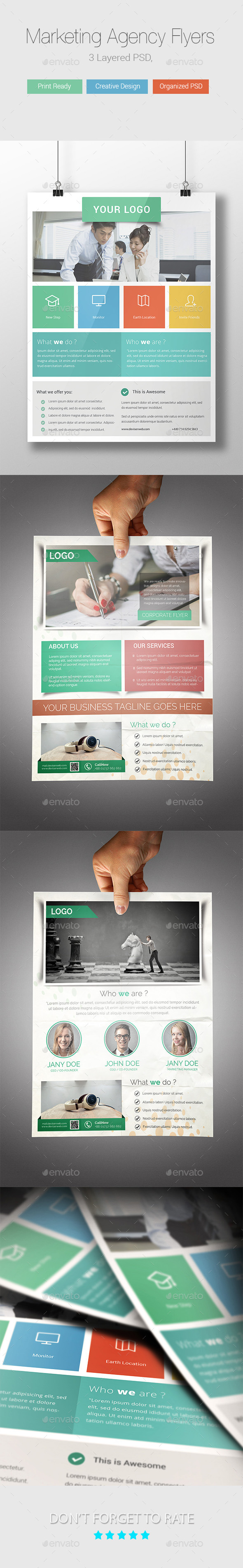 GraphicRiver Marketing Agency Flyer Templates 9345841