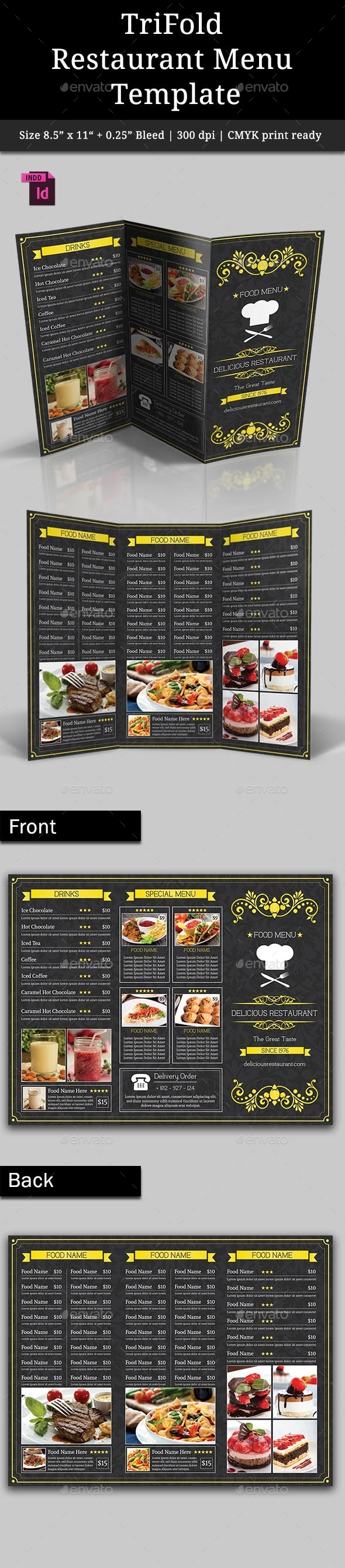 GraphicRiver TriFold Restaurant Menu Template Vol 3 9318763