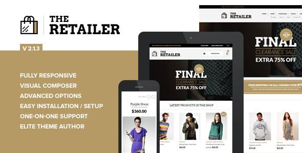The Retailer - Responsive WordPress Theme - WooCommerce eCommerce