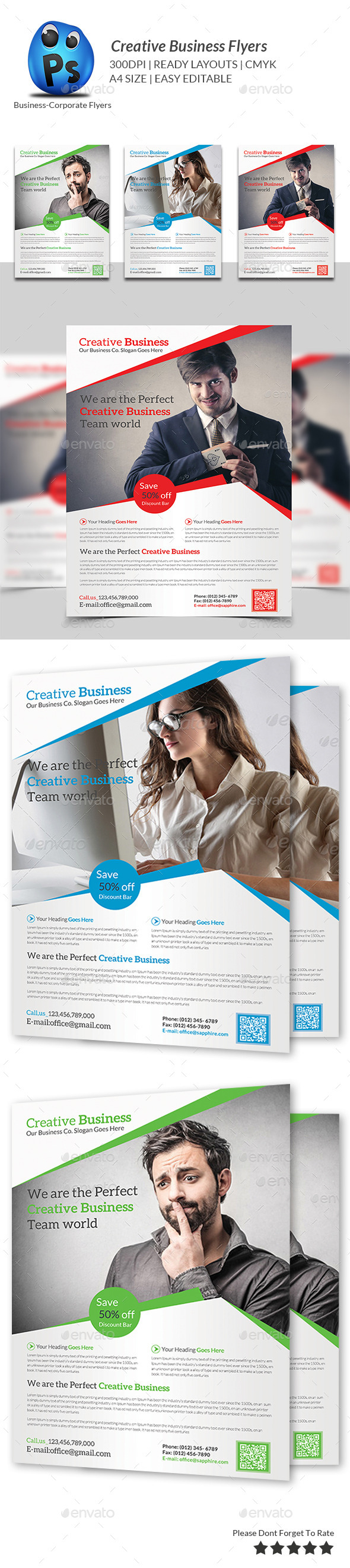 GraphicRiver Corporate Business Flyer Template 9346272