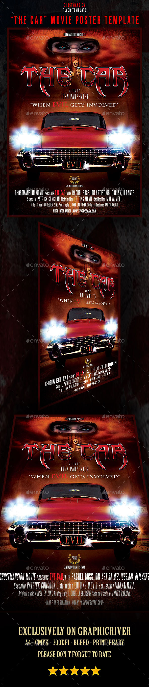 GraphicRiver The Car Movie Poster Template 9346291