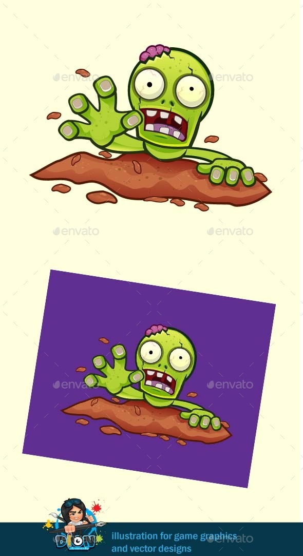 GraphicRiver Crawling Zombie 9334902