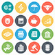 Finance and Business Round Vector Icons - GraphicRiver Item for Sale