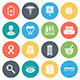 Healthcare, Medicine Round Vector Icons - GraphicRiver Item for Sale
