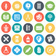 Education and Learning Round Vector Icons - GraphicRiver Item for Sale