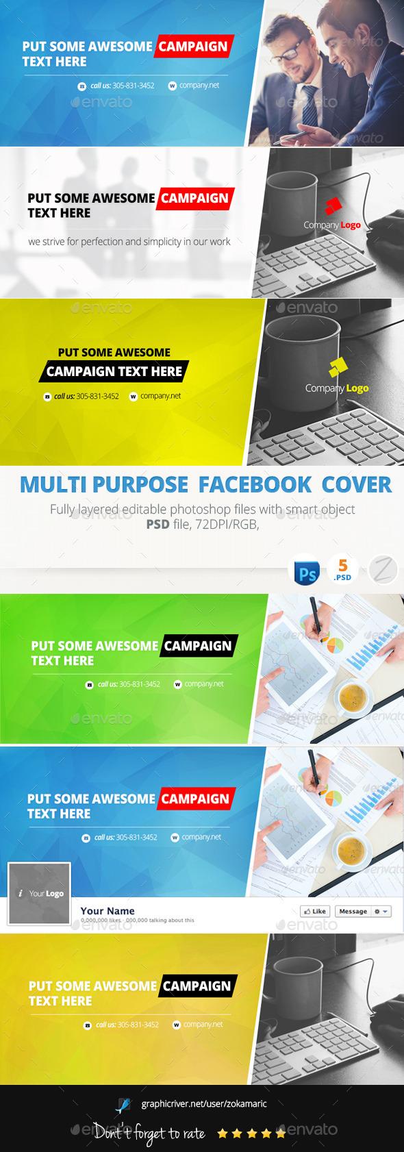 GraphicRiver Multi Purpose Facebook Cover 9298253