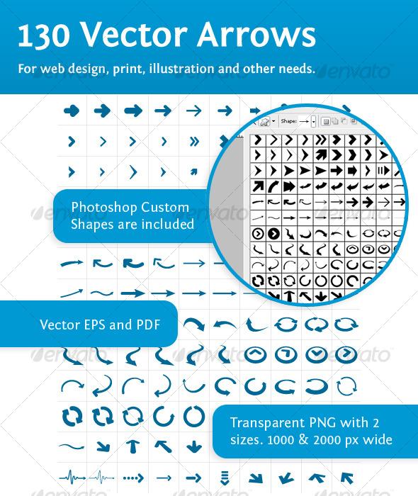 GraphicRiver 130 vector arrows 119997