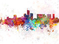 Essen skyline in watercolor background - PhotoDune Item for Sale
