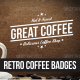 Retro Coffee Badges - GraphicRiver Item for Sale