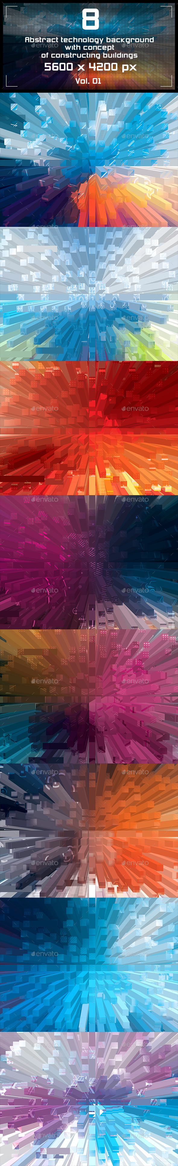 GraphicRiver Abstract Technology Backgrounds 9347867