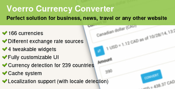 CodeCanyon Multipurpose jQuery Currency Converter 9327809