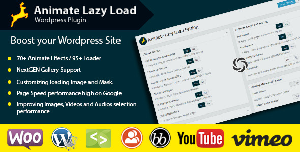 CodeCanyon Animate Lazy Load WordPress Plugin 9315381