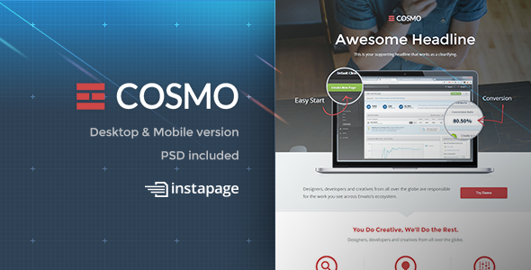 ThemeForest Cosmo Instapage 9348214