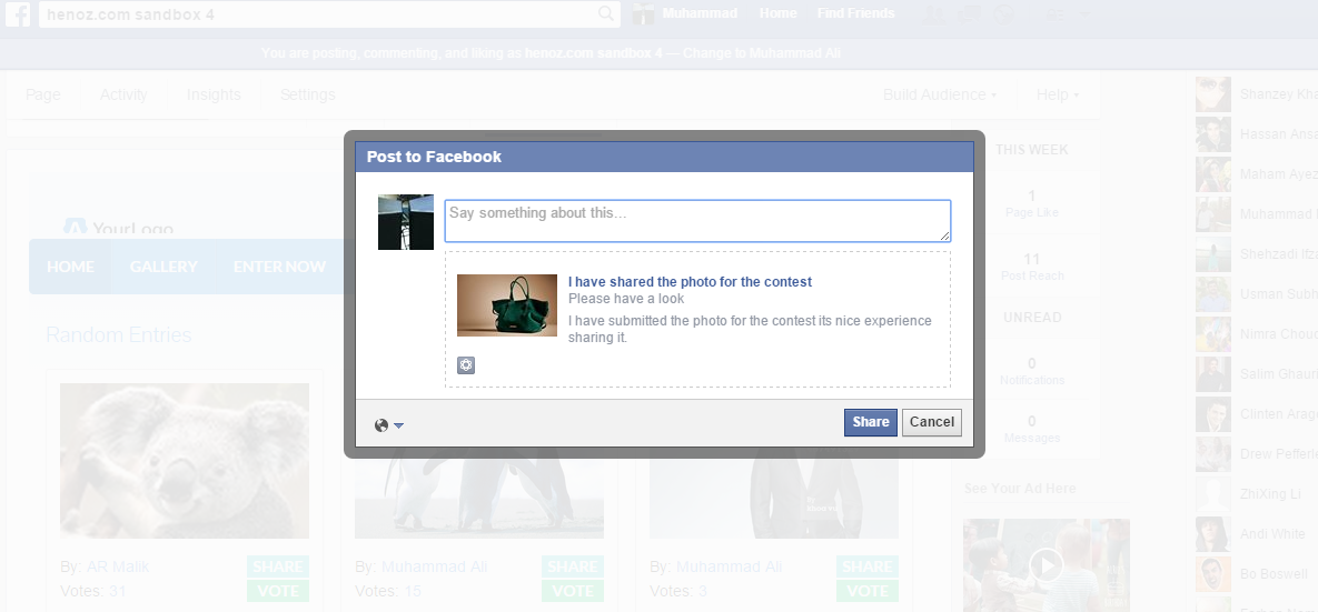how to add a contest tab on facebook