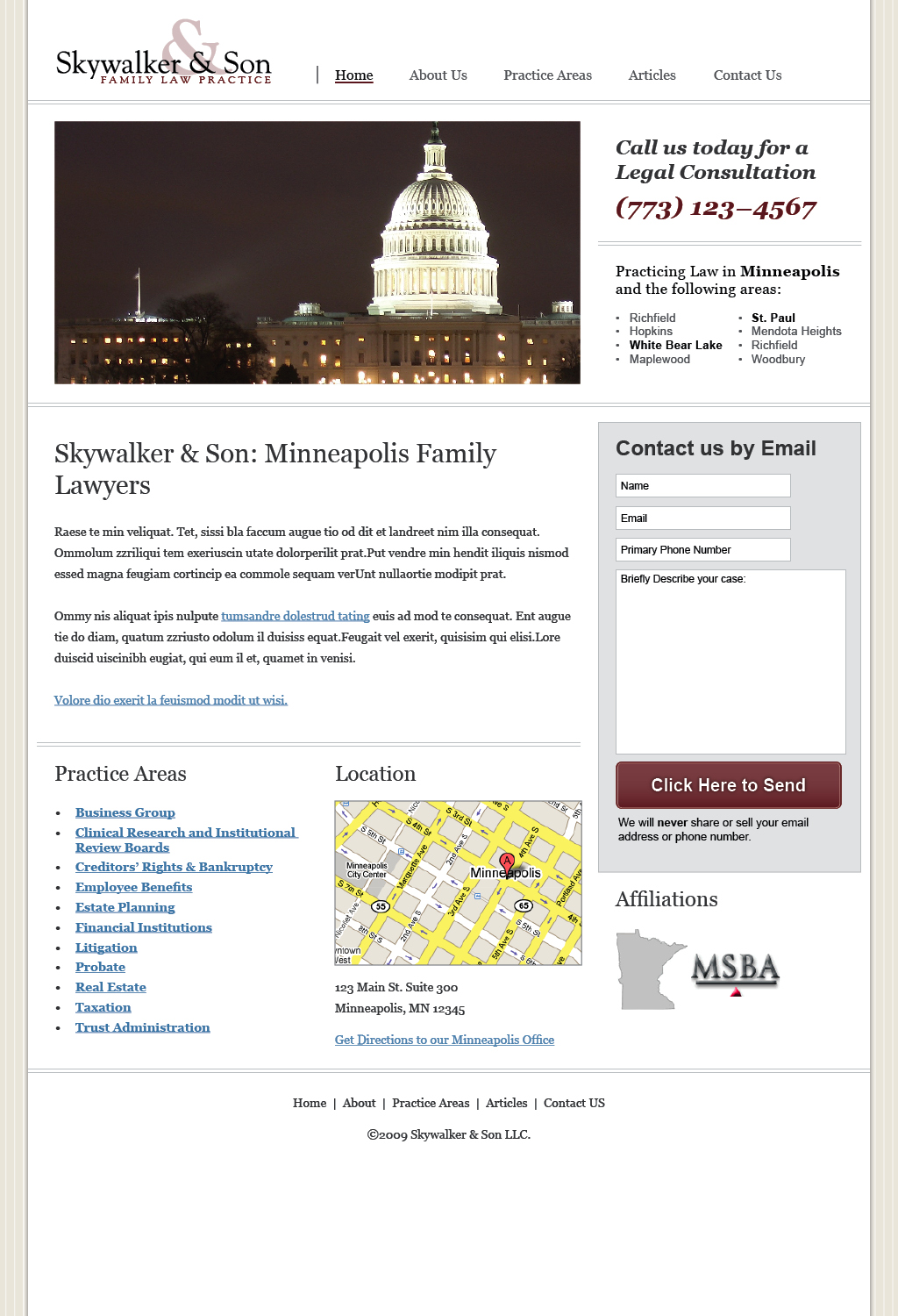 Law/Legal Business Template  - Home Page
