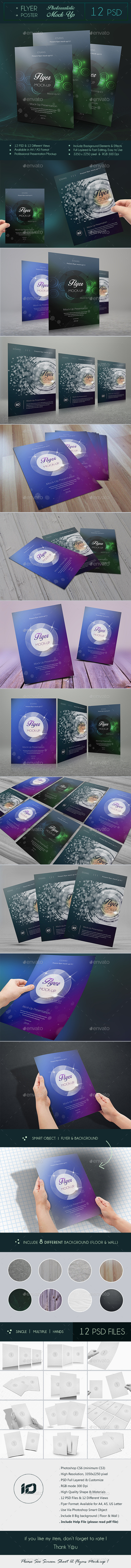 GraphicRiver ID Flyer Mock-Up 9332158