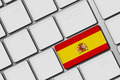 computer keyboard with spanish flag button - PhotoDune Item for Sale