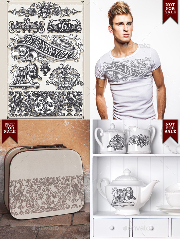 GraphicRiver Vintage Page Hand Drawn Banners and Labels 9349152