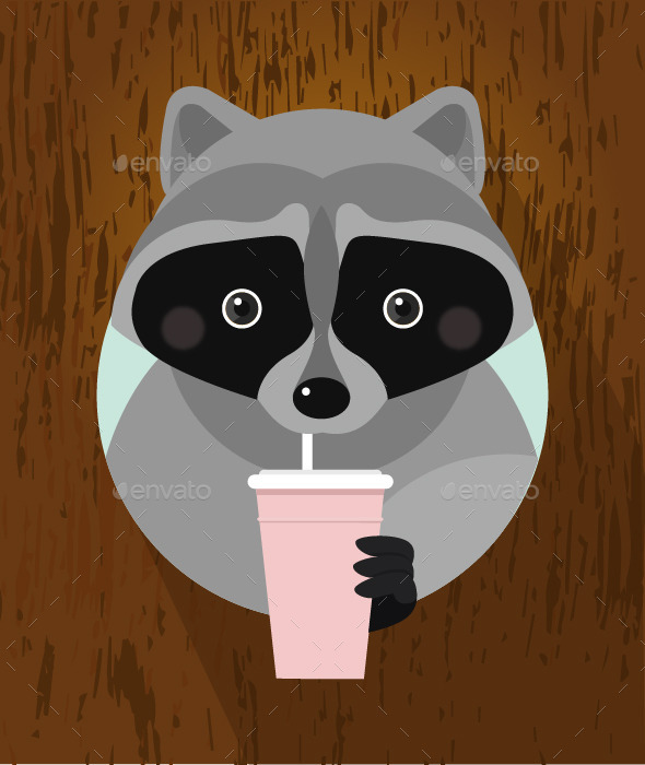 GraphicRiver Flat Raccoon 9349252
