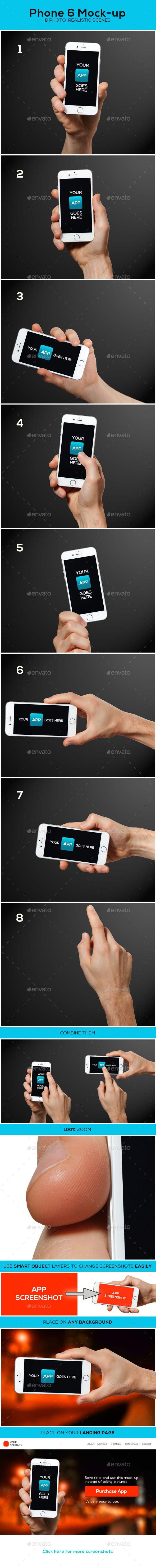 GraphicRiver Phone 6 Mock-up 9325561