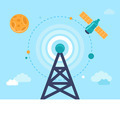 Antenna tower and satellite - PhotoDune Item for Sale