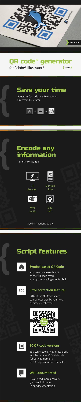 QR Code generator for Illustrator - Actions Illustrator