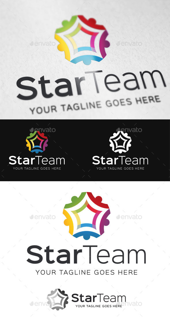 GraphicRiver Star Team Logo Template 9350259