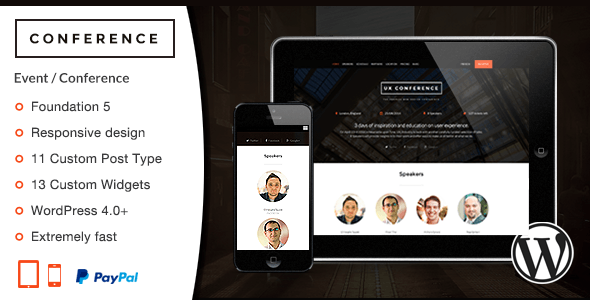 ThemeForest Conference WordPress Theme 9308071