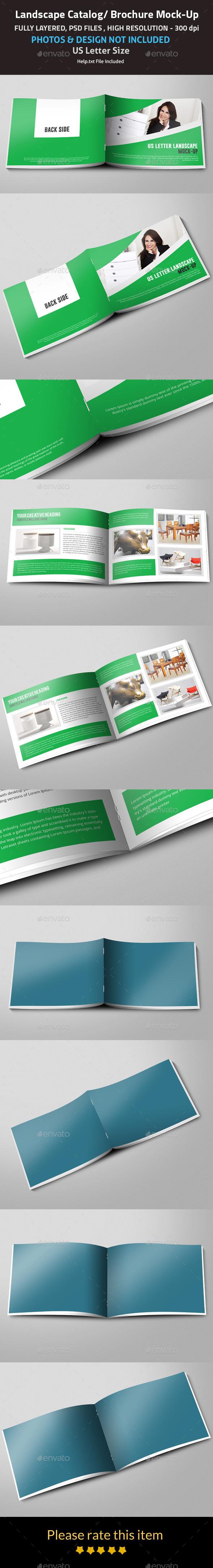 GraphicRiver Landscape Catalog Brochure Mock-Up 9350392