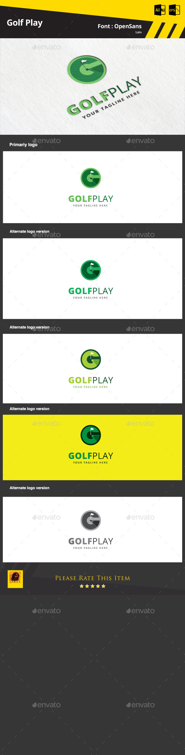 GraphicRiver Golf Play Logo Template 9350404