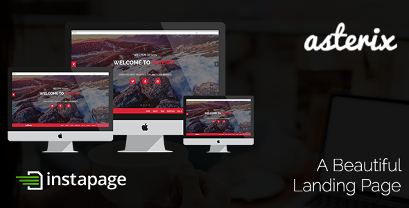 ThemeForest Asterix InstaPage Template 9327753