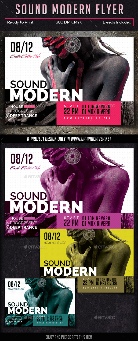 GraphicRiver Sound Modern Flyer 9350446