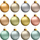 Christmas Balls Pastel Metallic Colors - GraphicRiver Item for Sale