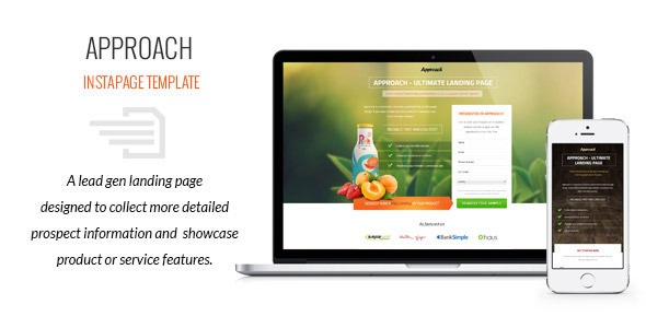 Approach - Lead Gen Instapage Template Download