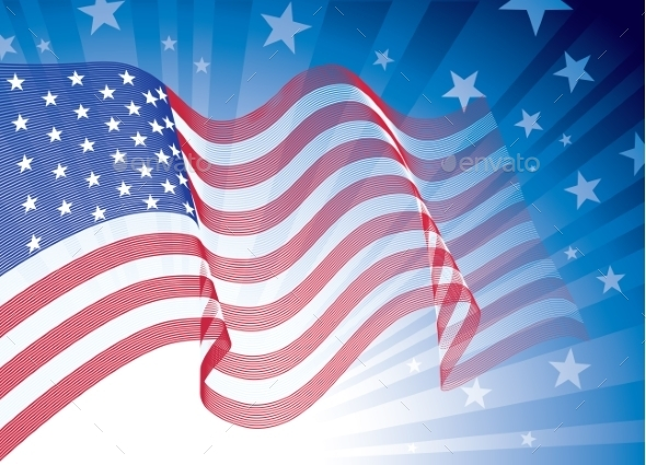 GraphicRiver American Flag 9350539