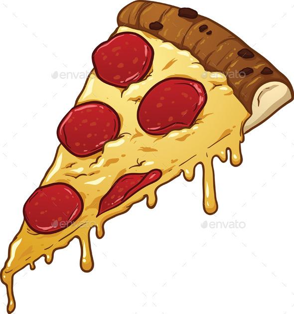 GraphicRiver Salami Pizza Slice 9350582