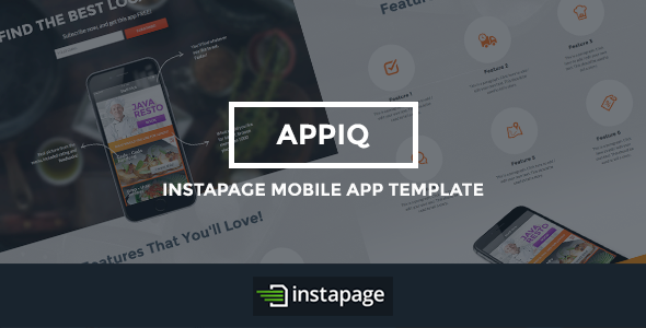ThemeForest APPIQ Instapage Theme Mobile App 9321684