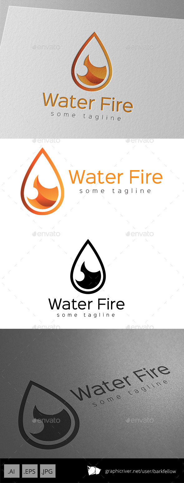 GraphicRiver Fire Water Drop Logo 9350699