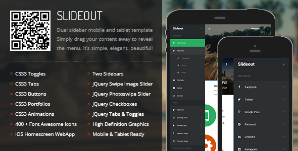 Slideout | Mobile & Tablet Responsive Template