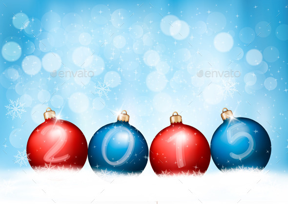 GraphicRiver Christmas Background with a 2015 9350987