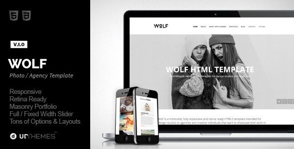 Wolf Responsive Creative HTML5 Template