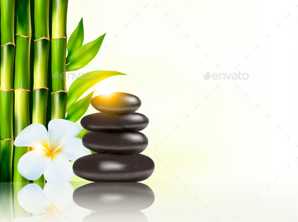 GraphicRiver Spa Background with Bamboo and Stones 9351015