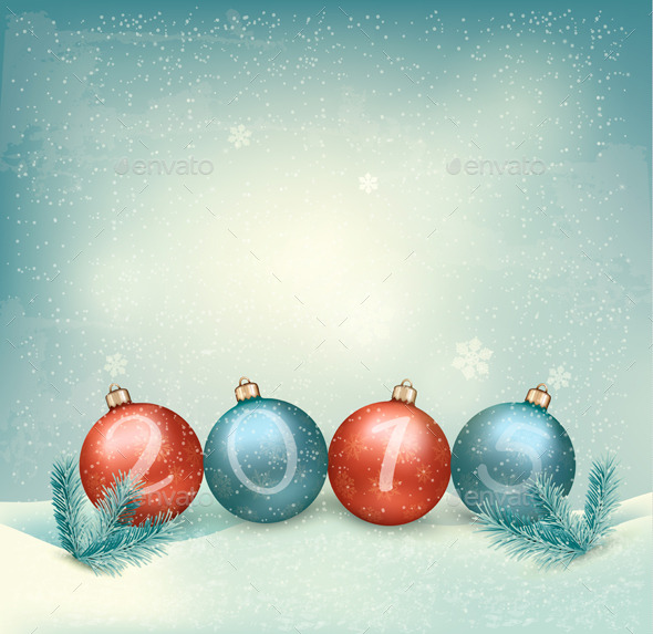 GraphicRiver Christmas Background with a 2015 9351028