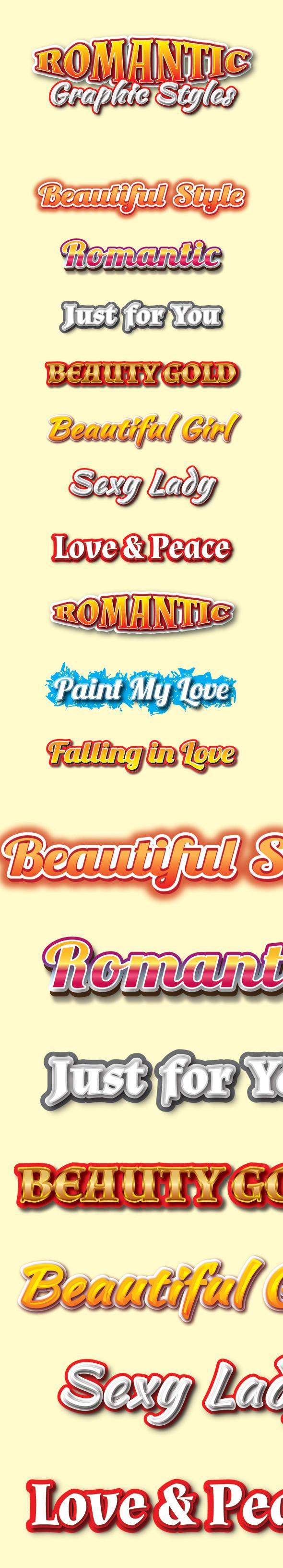 GraphicRiver Romantic Graphic Styles for Ai 9351043