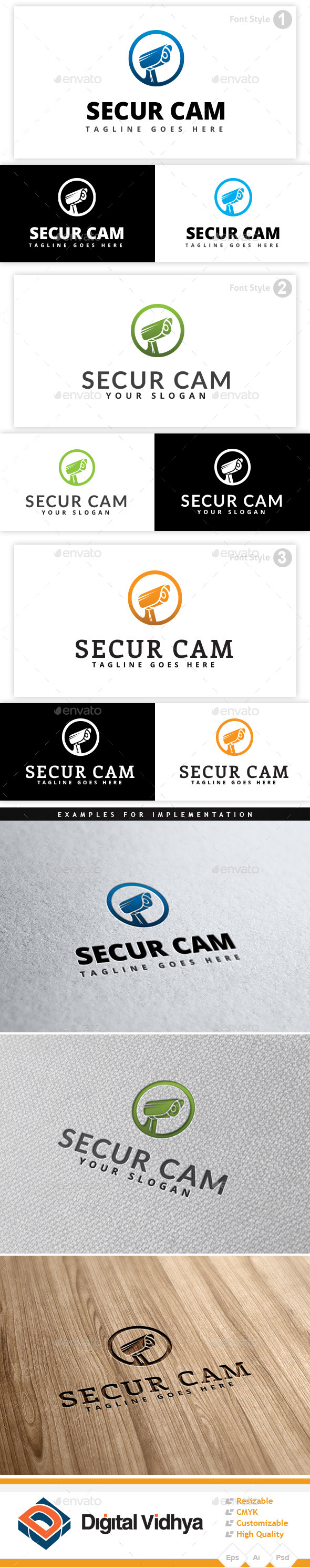 GraphicRiver Security Camera Logo 9351052
